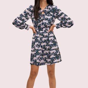 Kate Spade New York Panther Dot print mini dress